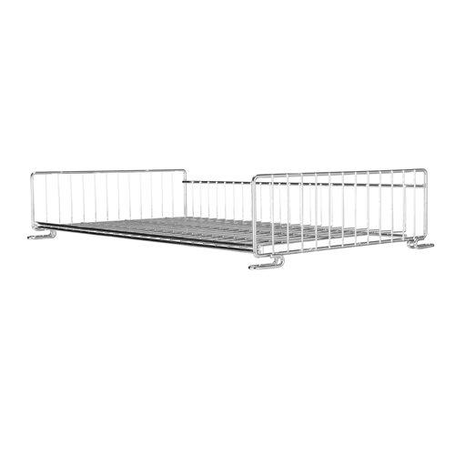 Top shelf for wire storage baskets