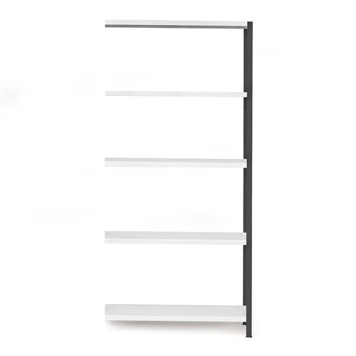 #en Light shelving, add-on unit, 1970x1005x400 mm, dark grey