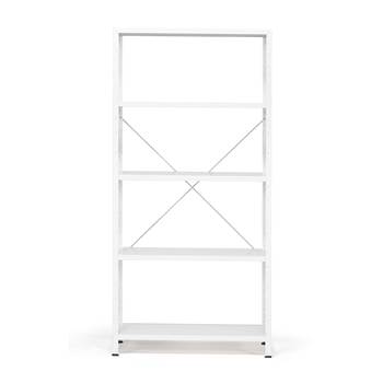Light shelving basic unit, 170 kg load, 1970x950x500 mm, white, white