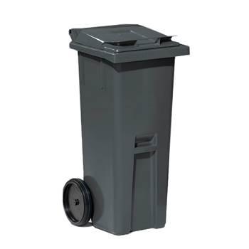 Szary kontener na odpadki o poj.140 l - 480x540x1060mm