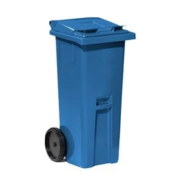 Avfallsbeholder Classic, 140 liter, blå