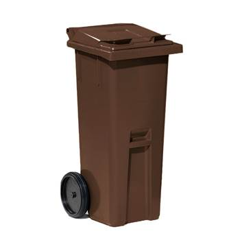 Classic wheelie bin, 1060x480x540 mm, 140 L, brown