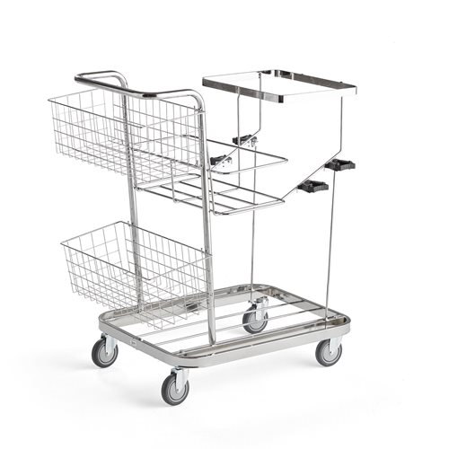 Metal cleaning trolley