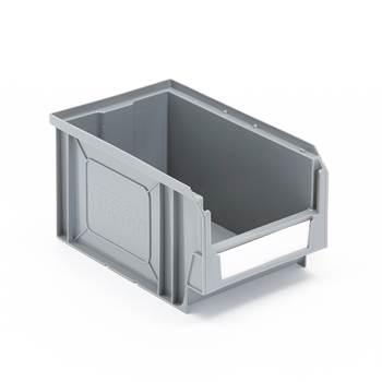 Budget stores bin, 235x145x125 mm, 4.2 L, grey