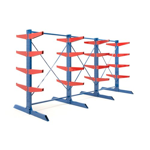 Package: heavy-duty cantilever racking: 600mm arms: 16000kg