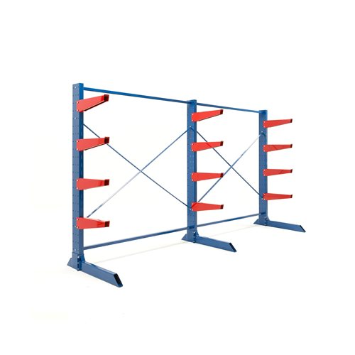 Package: heavy-duty cantilever racking: 600mm arms: 6000kg