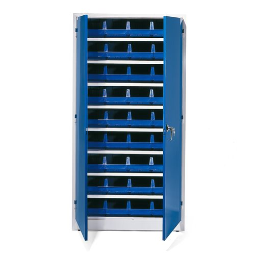 Complete stores cabinet: 1900x1000x400mm: 36 bins