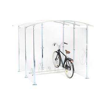 Wiata na rowery z plexiglas.