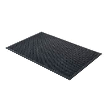 Edge rubber entrance mat, 1200x1800 mm, black