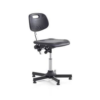 Workshop chair, with wheels, H 460-580 mm, black
