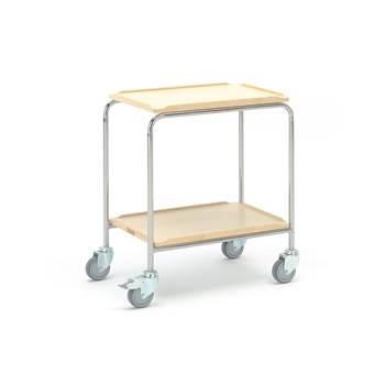 Rullebord, 600x400 mm, 2 hylleplater, bjørk