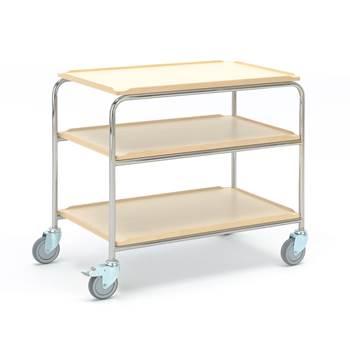 Shelf trolley: 3 shelves: 900x550 mm: birch