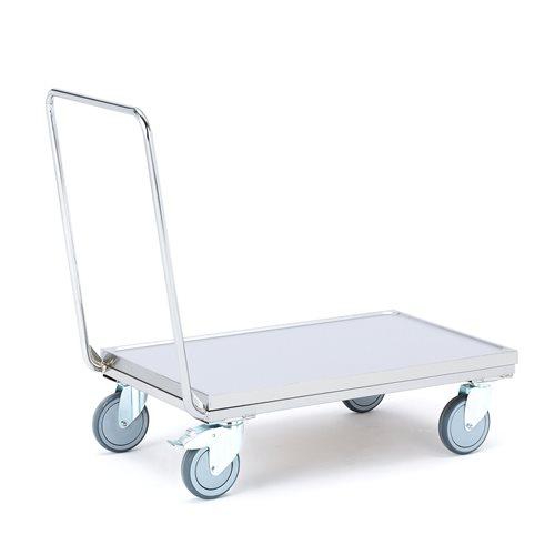 Wózek platformowy ze stali nierdzewnej