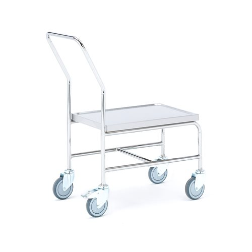 """""""High"""" stainless steel trolley: 150 kg"""