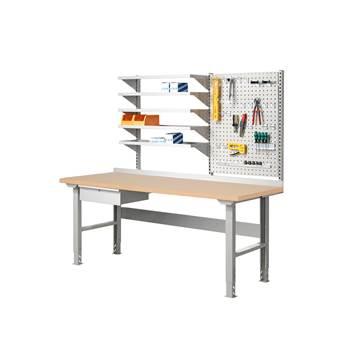 Complete workbench: 2000x800mm: tool shelf: hardboard