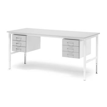 Stół roboczy z blatem laminowanym na kolor szary o dł. 2000mm bez półki