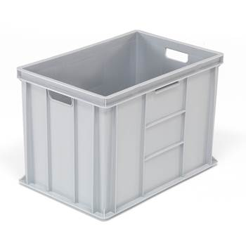 Euro plastic boxes, 600x400x410 mm, 80 L, grey