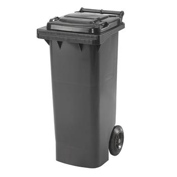Budget wheelie bin, 930x445x525 mm, 80 L, grey
