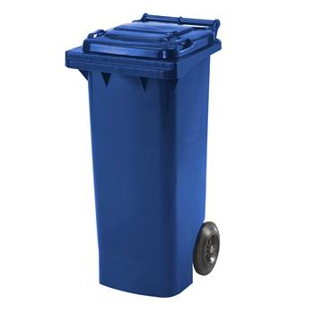 Budget wheelie bin, 930x445x525 mm, 80 L, blue