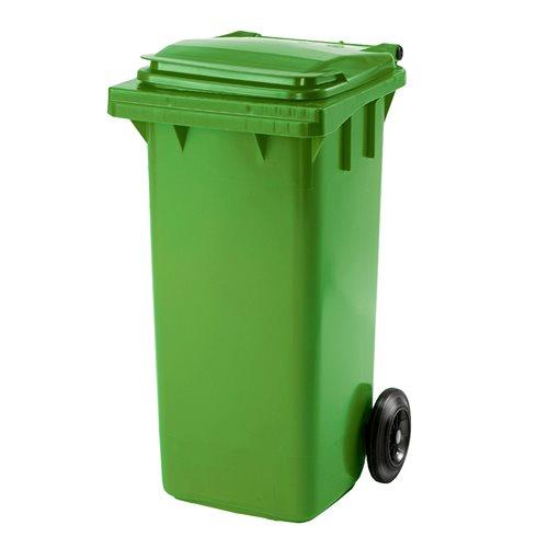 Kosz na śmieci 120l zielony