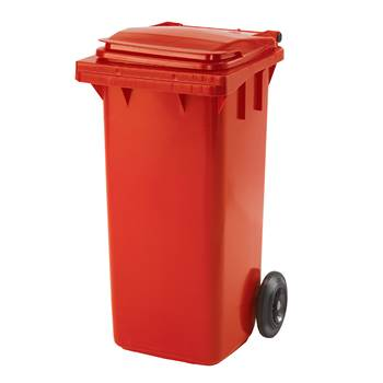 Budget wheelie bin, 930x480x555 mm, 120 L, red
