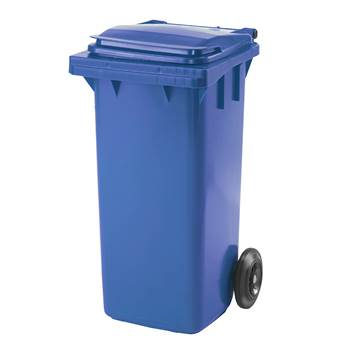 Budget wheelie bin, 930x480x555 mm, 120 L, blue