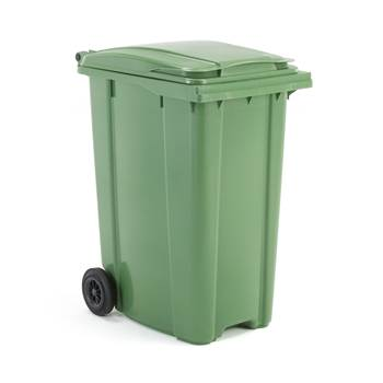Budget wheelie bin, 1100x620x860 mm, 360 L, green