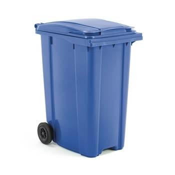 Budget wheelie bin, 1100x620x860 mm, 360 L, blue