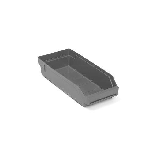 Smådelslåda, 400x180x95 mm,återvunnen plast, grå AJ produkter