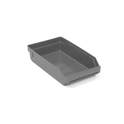 Pientavaralaatikko, 400x240x95 mm, kierrätysmuovia, harmaa