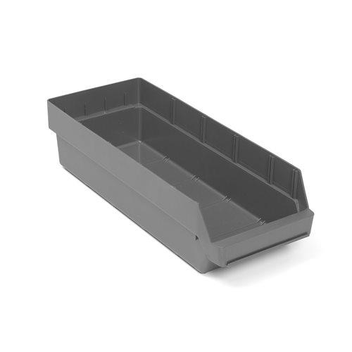 Pientavaralaatikko, 600x240x150 mm, kierrätysmuovia, harmaa