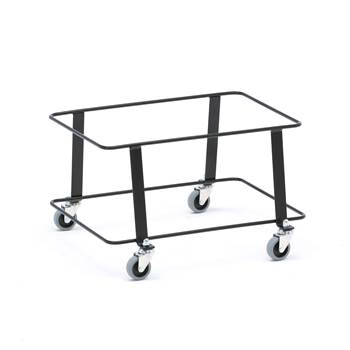 Trolley for shopping baskets