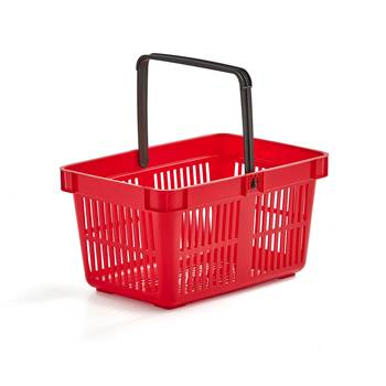 Shopping baskets, 480x330x250 mm, 26 L, red