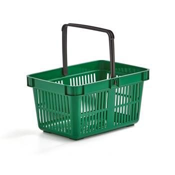 Shopping baskets, 480x330x250 mm, 26 L, green