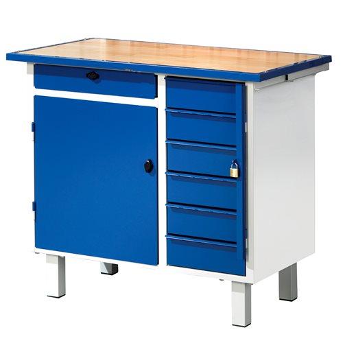 werkbank flex mit schrank 7 schubladen aj produkte sterreich. Black Bedroom Furniture Sets. Home Design Ideas