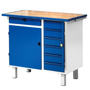 Flex tool bench: fixed: cabinet + 7 drawers