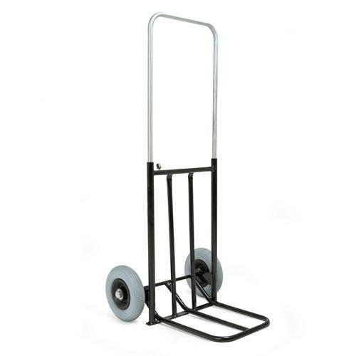 Hopfällbar magasinkärra med punkteringsfria hjul