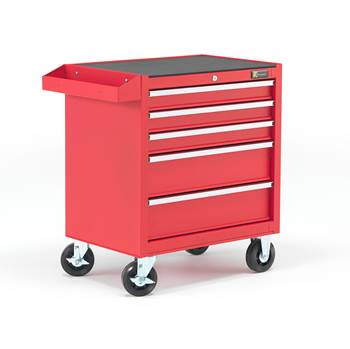 Tool trolley, 5 drawers, 805x680x460 mm