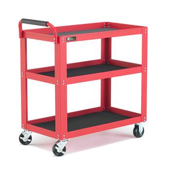 Shelf trolley, 3 shelves, 350 kg load, 885x475x950 mm