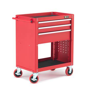 Tool trolley, 3 drawers + storage, 915x725x460 mm
