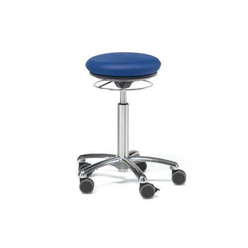 Pilates-tuoli Bristol, keinonahka, sininen