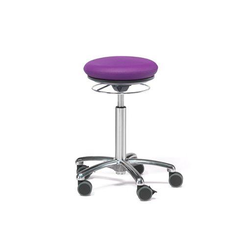 Pilates-tuoli Bristol, keinonahka, violetti