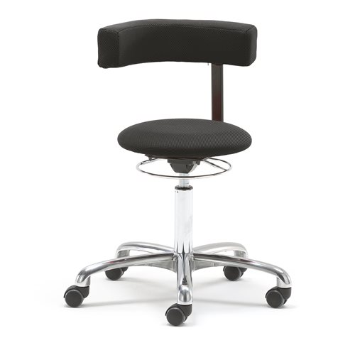 #en Palletchair with rotating arm-/backrest, black fabric