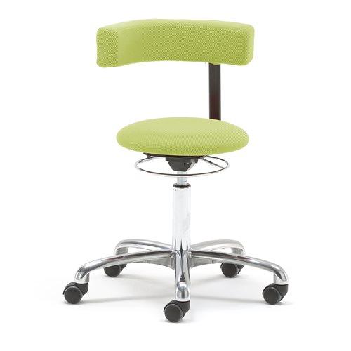 Työjakkara Twist, 360 astetta kääntyvä selkänoja, vihreä