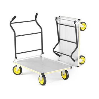 Folding platform trolley, 300 kg load, 610x900 mm