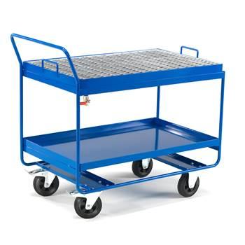 Spillvogn, rengjøringsvogn, med gitter, blå