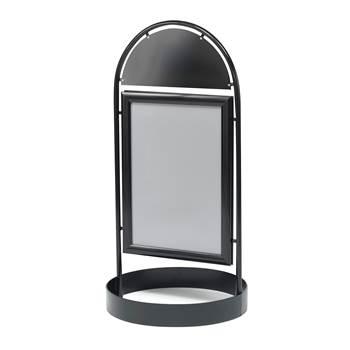 Gatupratare / Skyltställ, 500x700 mm, svart