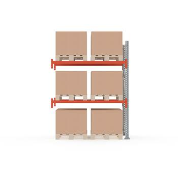 Ultimate pallet racking, add-on unit, 2500x1850x1100 mm, 6 pallets