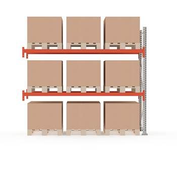 Ultimate pallet racking, add-on unit, 2500x2750x1100 mm, 9 pallets