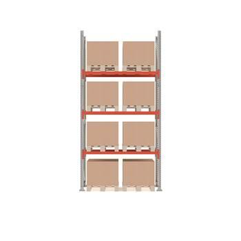 Ultimate pallet racking, basic unit, 4000x1850x1100 mm, 8 pallets
